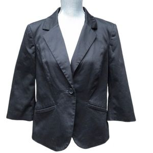 The Limited Black One Button Blazer Large